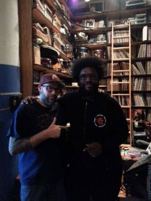 Hanging with Questlove at his studio.