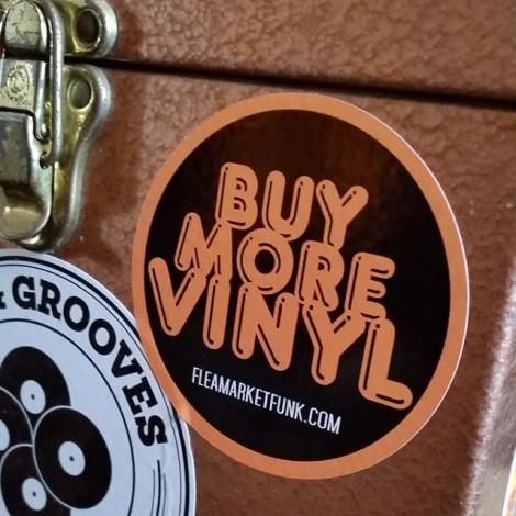 Buy More Vinyl Sticker 45 case